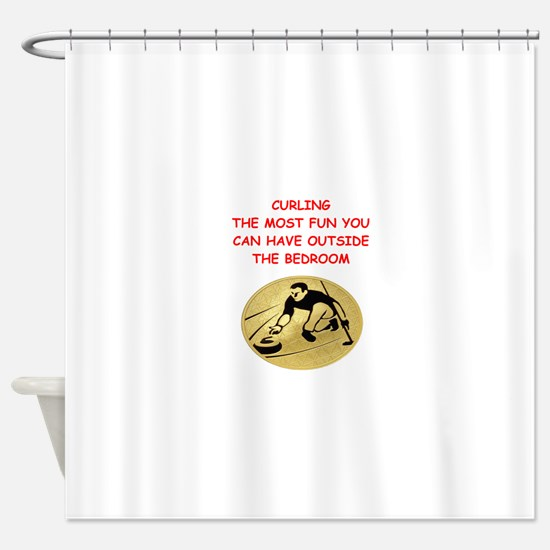 curling,curler Shower Curtain