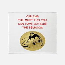 curling,curler Throw Blanket