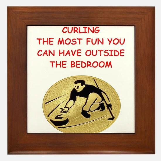 curling,curler Framed Tile