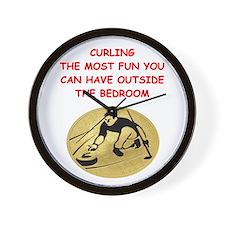 curling,curler Wall Clock