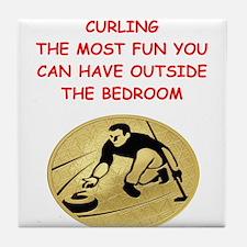curling,curler Tile Coaster