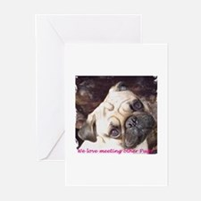 Pug Friends Greeting Cards (Pk of 10)