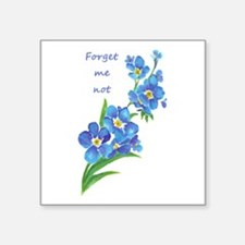 Forget-Me-Not Watercolor Flower & Quote Sticker