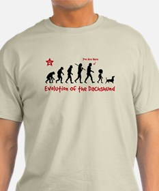 "Dachshund Evolution -""You are Here"" Light Tee"