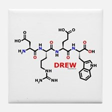 Drew name molecule Tile Coaster