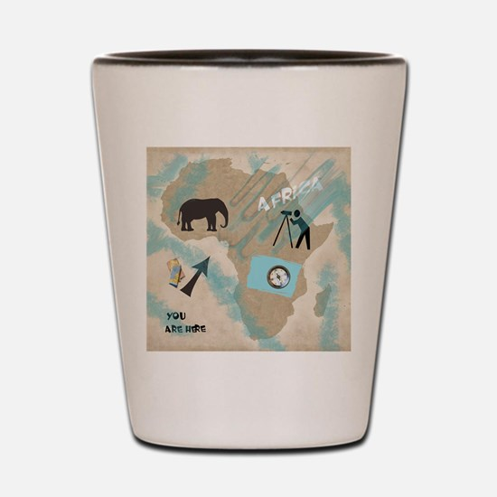 Trip to Africa Shot Glass