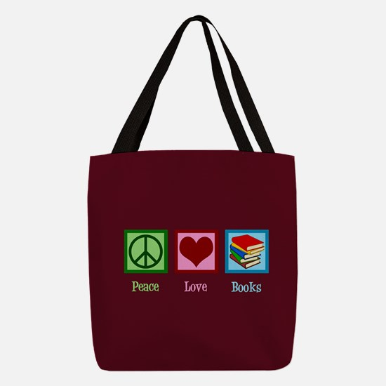 Cute Bookworm Polyester Tote Bag