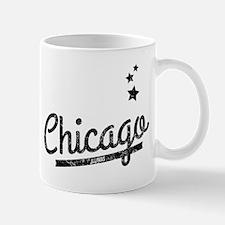 Distressed Retro Chicago Logo Mugs