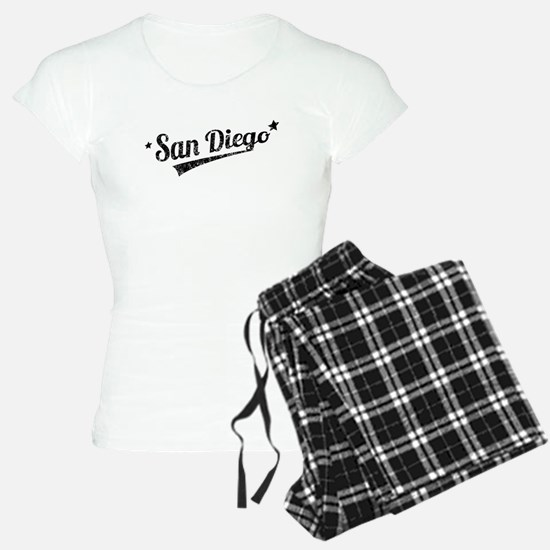 Distressed Retro San Diego Logo Pajamas