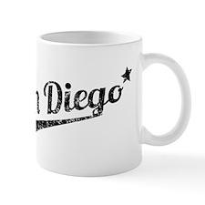 Distressed Retro San Diego Logo Mugs