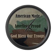American Military Large Wall Clock