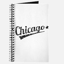Distressed Retro Chicago Logo Journal