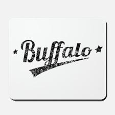Distressed Retro Buffalo Logo Mousepad