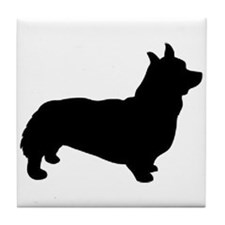 corgi black 1C Tile Coaster
