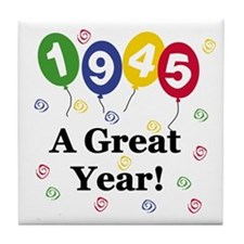 1945 A Great Year Tile Coaster