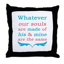Wuthering Heights Our Souls Throw Pillow