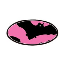 Pink Halloween Bats Pattern Patches