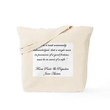 Jane Austen Quote Truth Tote Bag