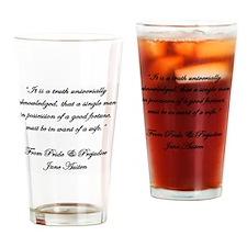 Jane Austen Quote Truth Drinking Glass