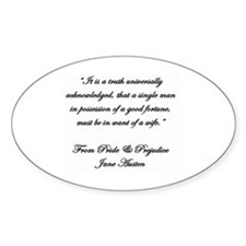 Jane Austen Quote Truth Decal