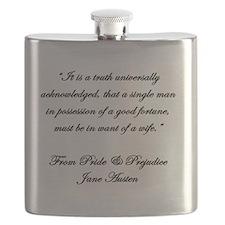 Jane Austen Quote Truth Flask