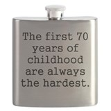 Funny 70th birthday Flasks