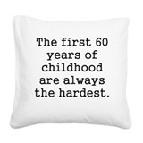 60th Square Canvas Pillows