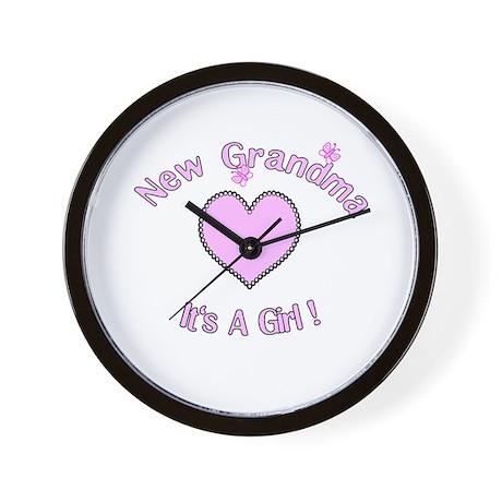 New Grandma It's a Girl Wall Clock