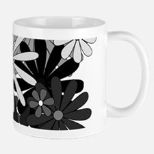 Black and White Flowers Mugs