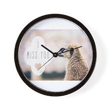 I Miss You meerkat Wall Clock