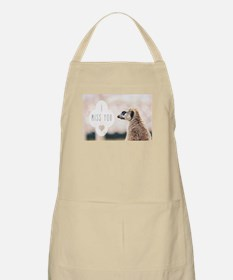 I Miss You meerkat Apron