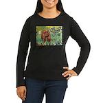 Irises & Ruby Cavalier Women's Long Sleeve Dark T-