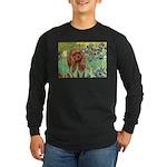 Irises & Ruby Cavalier Long Sleeve Dark T-Shirt