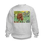 Irises & Ruby Cavalier Kids Sweatshirt