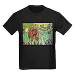 Irises & Ruby Cavalier Kids Dark T-Shirt