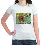 Irises & Ruby Cavalier Jr. Ringer T-Shirt