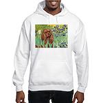 Irises & Ruby Cavalier Hooded Sweatshirt