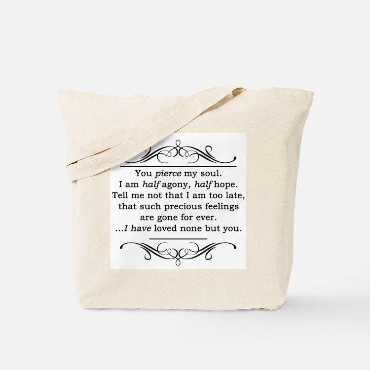 Persuasion Quote Jane Austen Tote Bag
