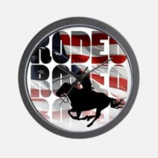 rodeo-44 Wall Clock