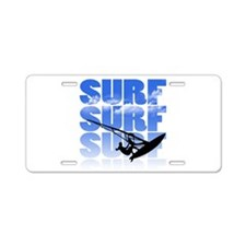 windsurfer Aluminum License Plate