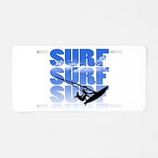 windsurfer Aluminum License Plate