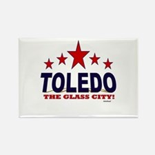 Toledo The Glass City Rectangle Magnet