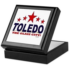 Toledo The Glass City Keepsake Box
