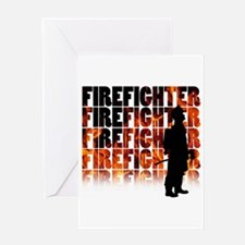 firefighter-097 Greeting Cards