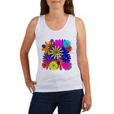 Flowers Floral Pattern Colorful Tank Top