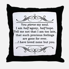 Persuasion, Jane Austen Throw Pillow