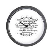 Persuasion, Jane Austen Wall Clock