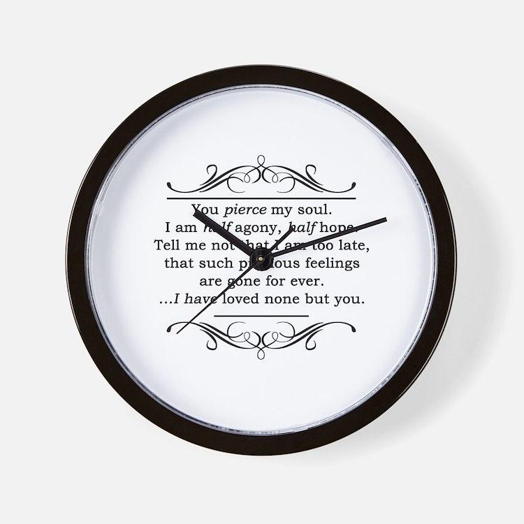 Persuasion, Jane Austen Wall Clock