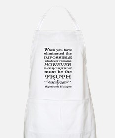 Sherlock Holmes Impossible Quote Apron