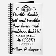 Macbeth Shakespeare Witches Journal